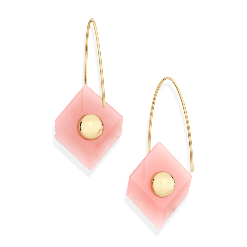 Reverse Fit Square Earrings