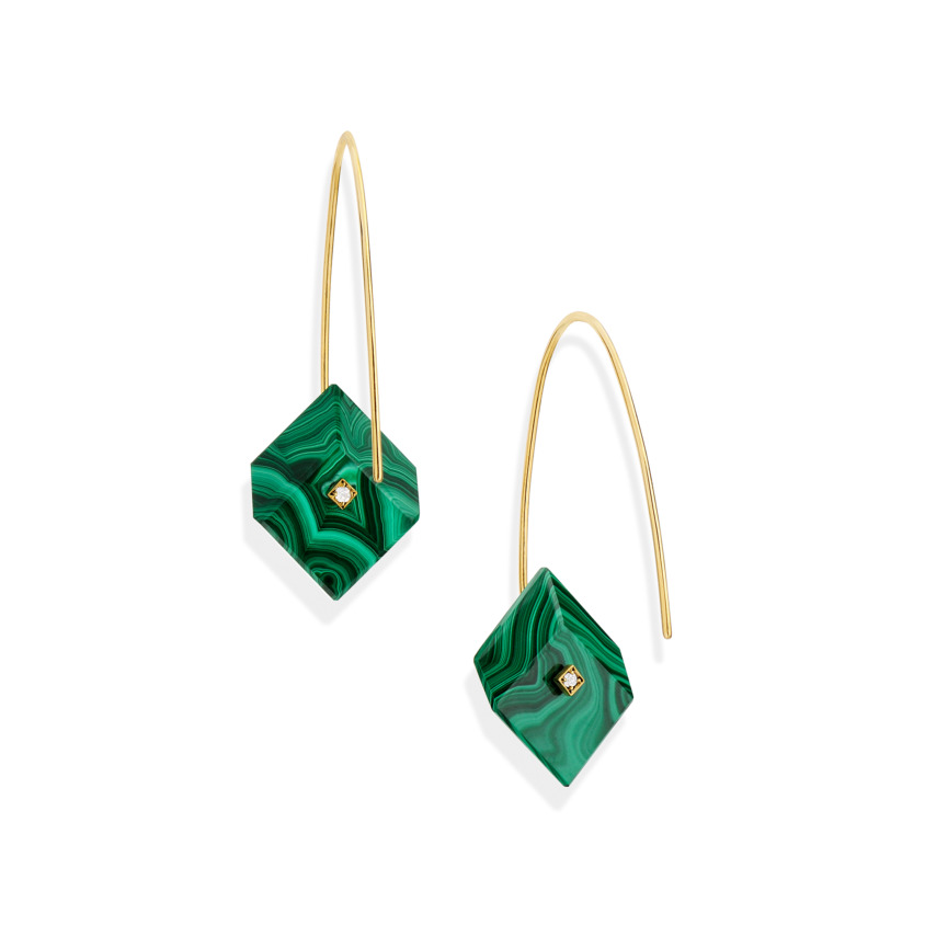 Reverse Fit Small Square Earrings