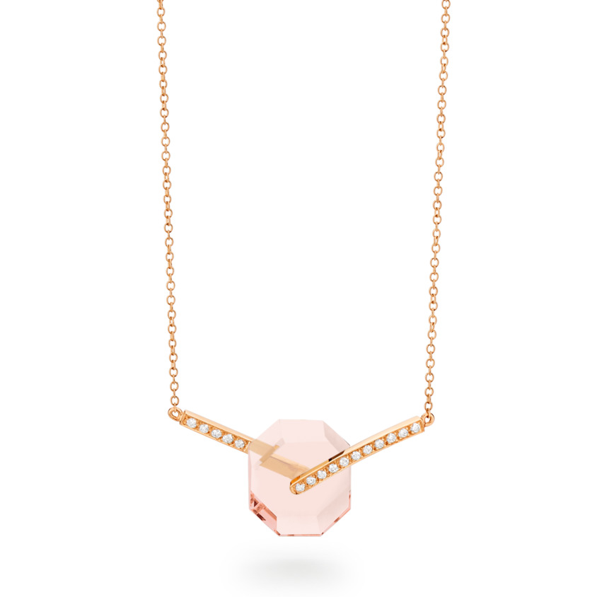 Deco Small Octagon Necklace