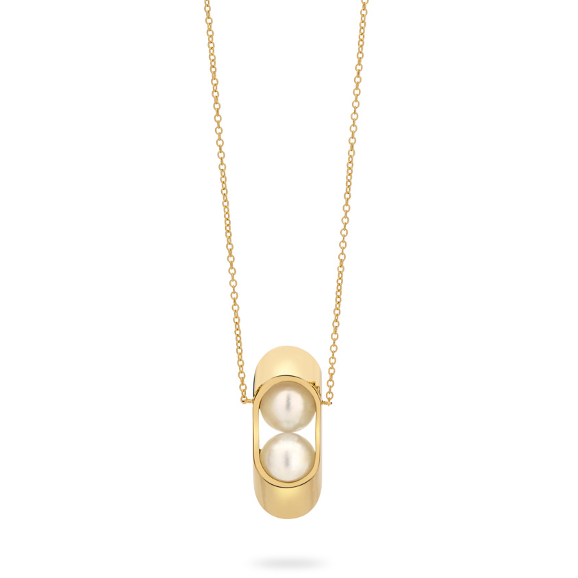 18k Yellow Gold South Sea Pearl Necklace – Cocoon Large Necklace | Yael Sonia