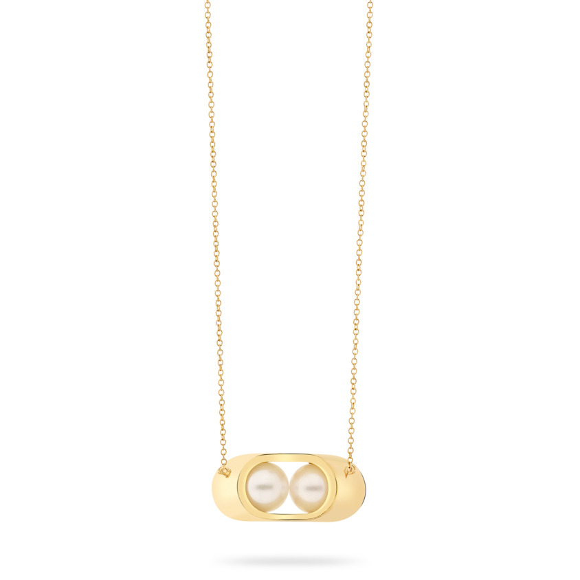 18k Gold, Akoya Pearl Necklace – Cocoon Small Necklace | Yael Sonia