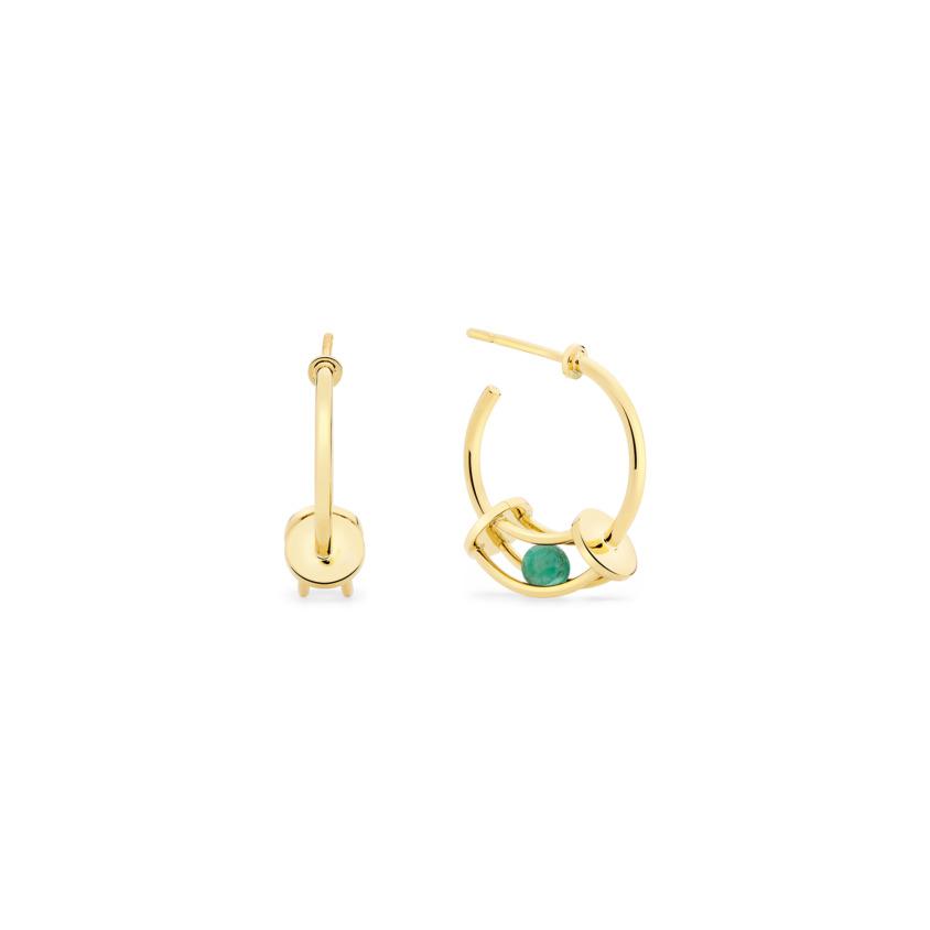 Simple Curve Small Hoop Earrings