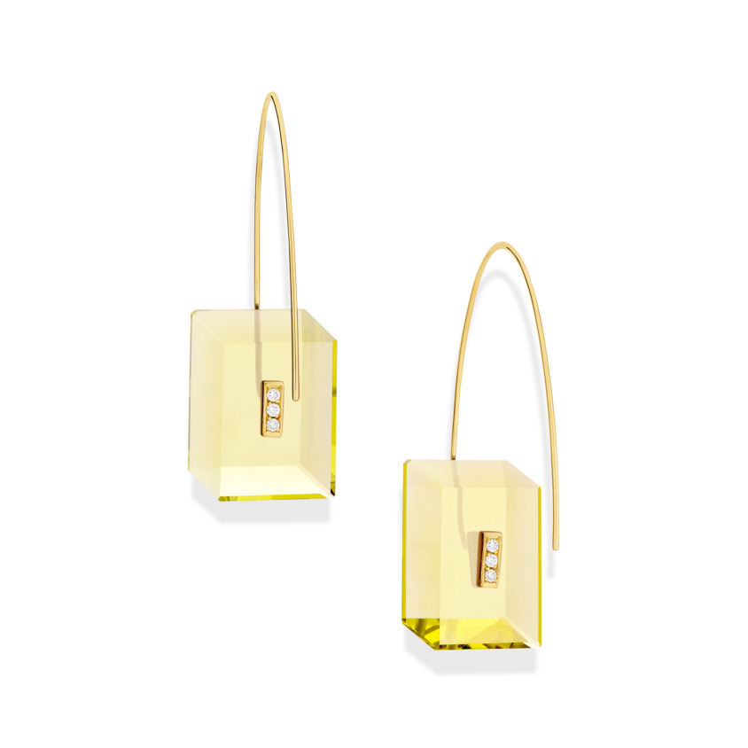 Reverse Fit Rectangle Earrings