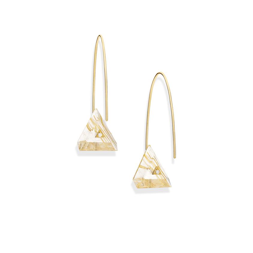 Reverse Fit Triangle Earrings