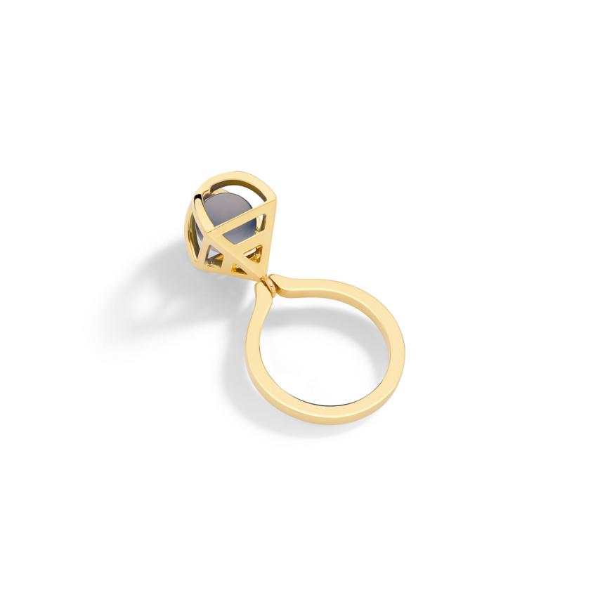 Solar Small Charm Ring
