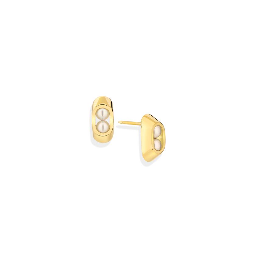 Akoya Pearl Stud Earrings – Cocoon 4mm Stud Earrings | Yael Sonia