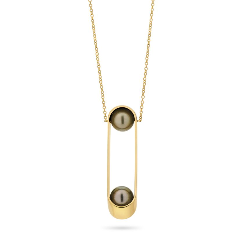 10mm Tahitian Pearl Necklace – Ellipse Double Necklace | Yael Sonia