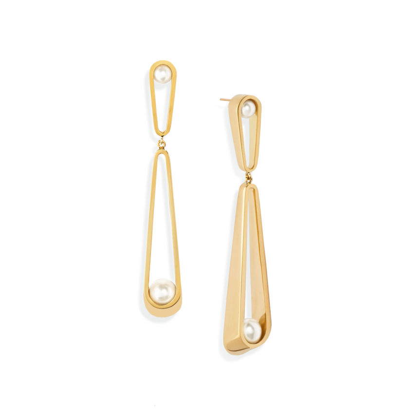 Tiered Pearl Earrings - Akoya Pearl Dangle Earrings | Yael Sonia